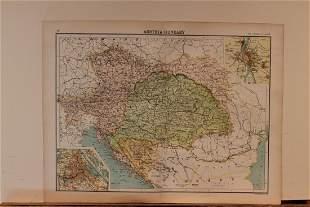 1873 Map of Austria-Hungary