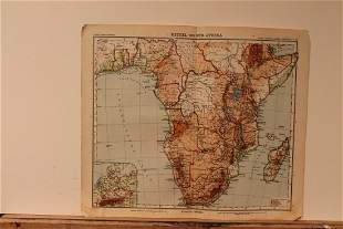 1913 Map of South Africa