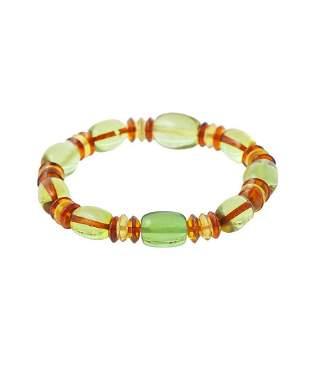 Caribbean Green Amber Bracelet