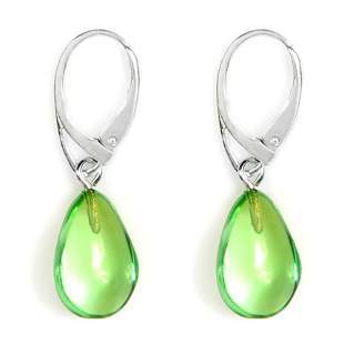 Caribbean Green Amber Earrings