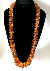 Exclusive antique certif. Amber necklace 208 gr