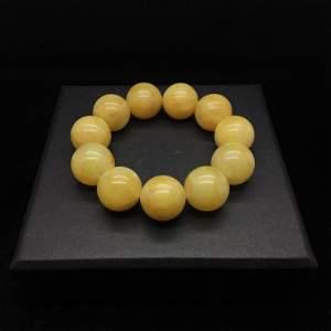 Alluring Vintage Amber Bracelet made from Round Amber
