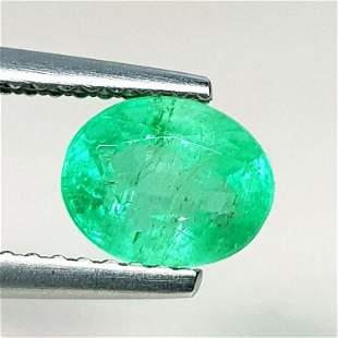 Natural Emerald Oval Cut 1.32 ct