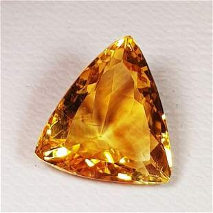 Natural Citrine Triangle Cut 5.73 ct