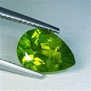 Natural Peridot Pear Cut 2.91 ct