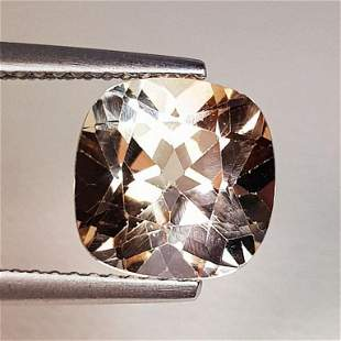 3.90 ct Natural Champagne Topaz Cushion Cut
