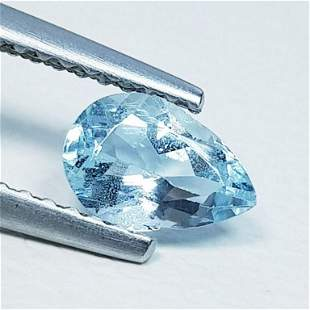 0.56 ct Natural Aquamarine Pear Cut