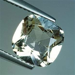 3.22 ct Natural Champagne Topaz Cushion Cut