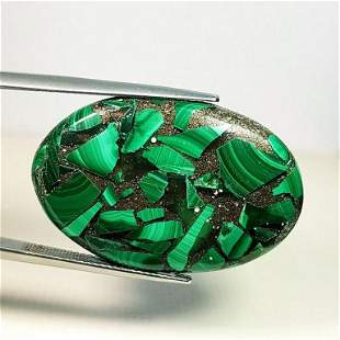 34.46 ct Natural Copper Malachite
