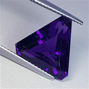 Natural Amethyst Triangle Cut 8.00 ct