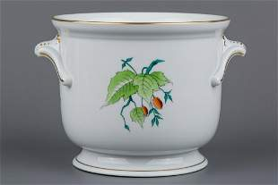 Herend Rosehip Pattern Cachepot with Handles #7211