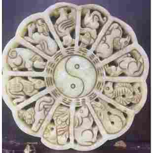 Chinese Twelve Zodiac pendant old jade handmade