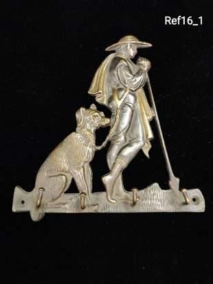 Bronze keyring hook