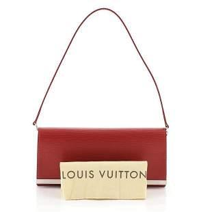 Louis Vuitton Sevigne Red Epi Leather Clutch Shoulder
