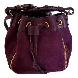 Charles and Keith Purple Faux Suede Drawstring