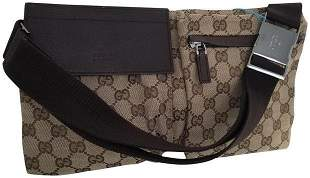 Gucci Original Monogram GG Waist Fanny Pack Bum Bag