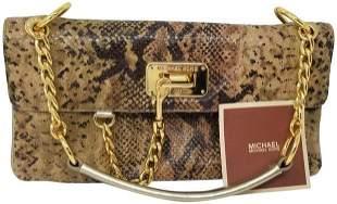 Michael Kors Snake Skin Python Shoulder Bag
