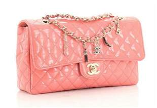 Chanel Classic Flap CC Charms Quilted Patent Leather