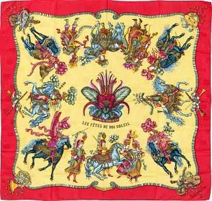 Hermes Scarf Les Fetes Du Roi Soleil Jacquard Silk