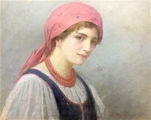 Oil painting Housewife