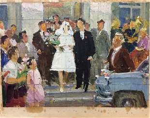 Oil painting Wedding