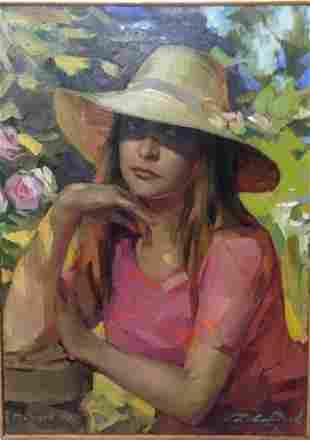 Oil painting Portrait of a girl Salov Dmitry
