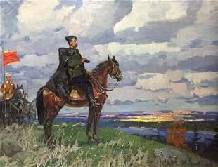 Oil painting Chapaev Khodchenko Lev Pavlovich