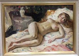 Oil painting Nude portrait Lomakin Oleg Leonidovich