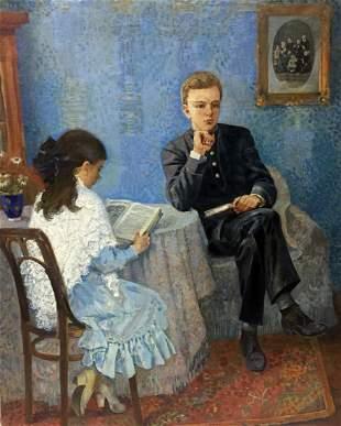 Oil painting On the kitchen Victor Ivanovich Zaretsky