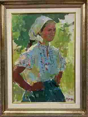 Oil painting Portrait of a girl Naumova Tamara