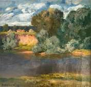 Oil painting Natural landscape Mynka Alexander