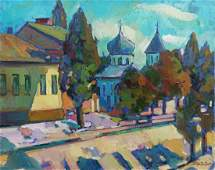 Oil painting Urban landscape Peter Tovpev