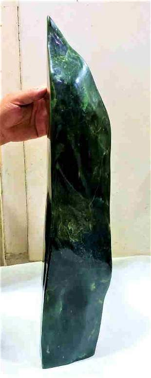 13 Kg Natural Polished Nephrite Standing Tumble