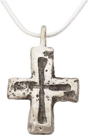MEDIEVAL PILGRIMS RELIQUARY CROSS 7th-10th C.