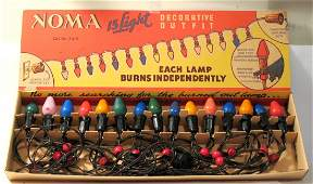 Set Of Vintage Christmas Lights.