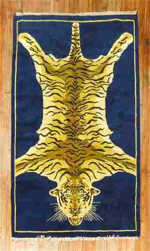 Vintage Indian Tiger Rug