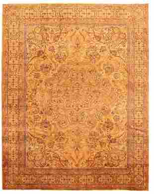"""Hand-knotted Masterpiece Khaki Wool Rug 9'1"""" x 11'7"""""""