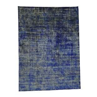 Hand-Knotted Pure Sari Silk Modern Design Oriental Rug