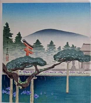 Tokuriki:: The Irises of Umenomiya Shrine