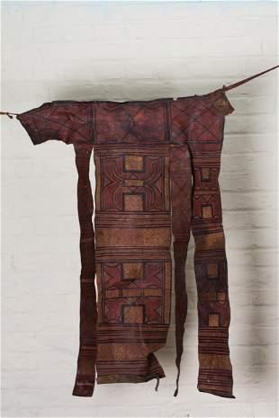 Kongo people, DR Congo.Leather Dance Skirt