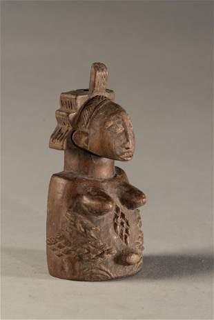 Small Holo Female Half Figure with Scarifications