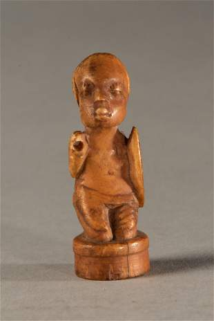 Small Bone Kneeling Warrior, Kongo people, DR Congo
