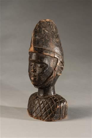 Small wooden Yoruba head,Nigeria