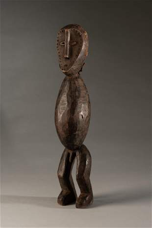 Abstract Lega male Statue wearing a mask,DRC