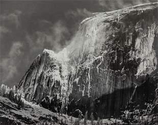 ANSEL ADAMS - Half Dome, Blowing Snow, Yosemite 1955