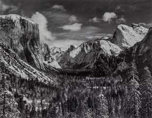 ANSEL ADAMS - Yosemite Valley Winter