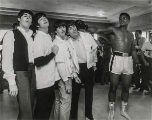 HARRY BENSON - Ali Hits George, 5th Street Gym, Miami