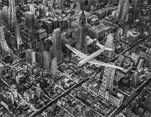 MARGARET BOURKE-WHITE - DC-4 in Flight Over Manhattan