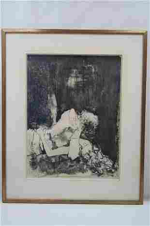 "Jean Jansem (1920-2013) ""Couple"" Lithograph signed and"