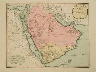 1794 Anville Map of the Arabian Peninsula and Red Sea